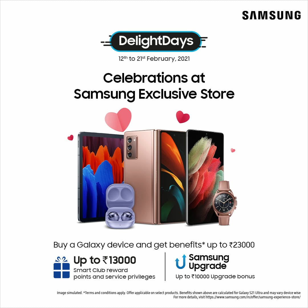 Buy Galaxy device & get benefits upto ₹23000