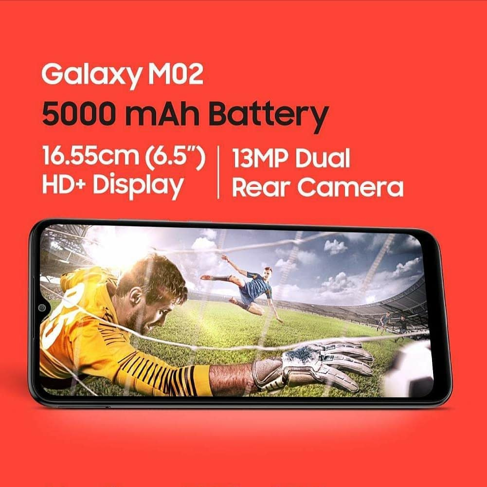 Buy now Galaxy M02 | 5000mAh Battery | 13MP Main Camera | 16.55cm HD+ Display
