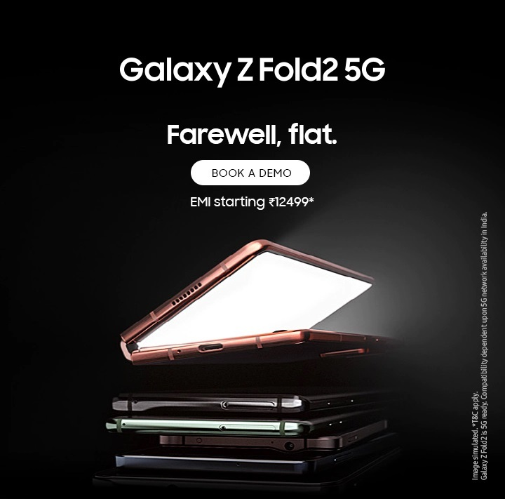 Buy Samsung Galaxy Z Fold2 5G | Foldable Smartphone Starts at ₹12499