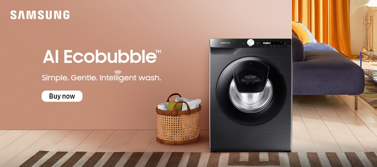 washing machine frontload eco bubble technology for fb